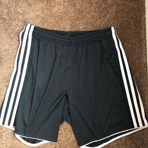 NWOT! Black Adidas Soccer shorts